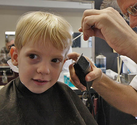 some barbers specialize in cutting children's hair