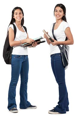 carrying school books