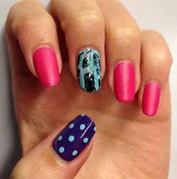 mixed manicure art