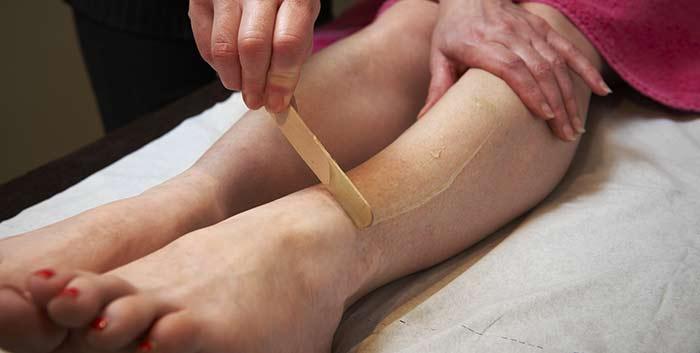 leg waxing in classroom