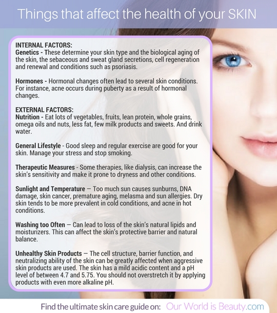 things that affect a healthy skin