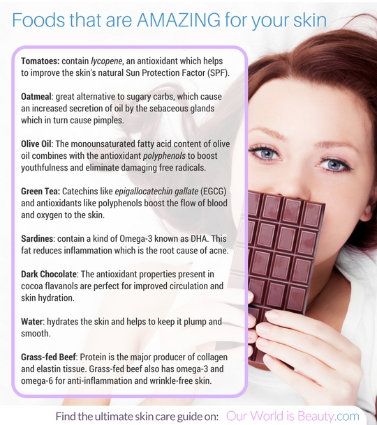 Foods that help your skin