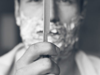 straight razor use requires a steady hand!